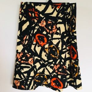 J.CREW // abstract floral a-line knee skirt